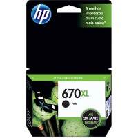 Cartucho de Tinta HP 670 XL Original Preto